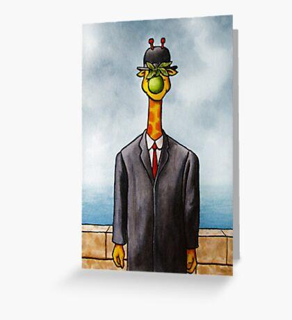 Art Giraffe- The Son of Man Greeting Card