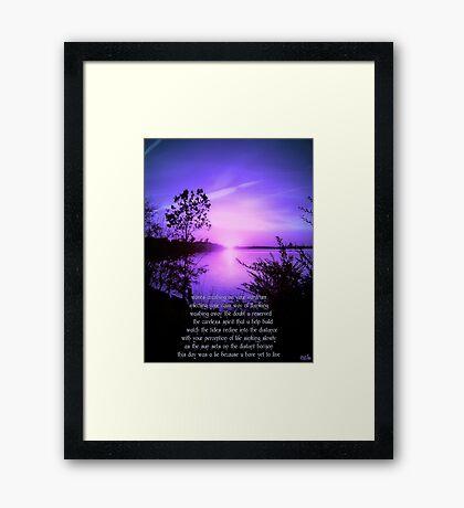 Set of the Sun Framed Print