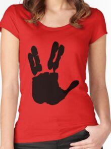 Vulcan Salute Women's Fitted Scoop T-Shirt
