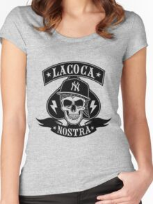 Cocaine gangster Skull Women's Fitted Scoop T-Shirt