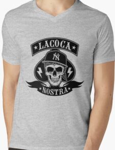 Cocaine gangster Skull Mens V-Neck T-Shirt