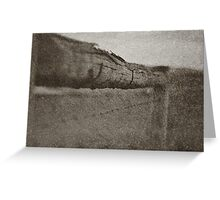 The Barbed Wire Fence Greeting Card