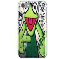 Kermit the Frog says fu iPhone Case/Skin