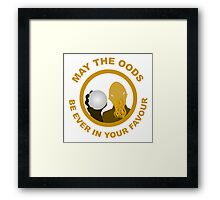 May the Oods Be Ever in Your Favour Framed Print