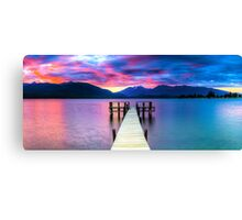 Lake Te Anau Sunset Canvas Print