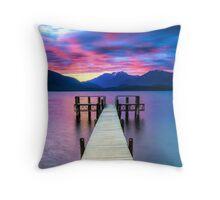 Lake Te Anau Sunset Throw Pillow