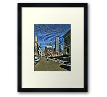 1 Prudential Plaza Skyscraper, Chicago, as seen from the Art Institute  Framed Print