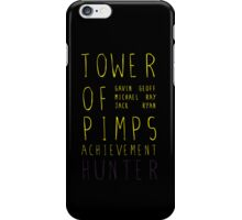 Tower of Pimps Text iPhone Case/Skin