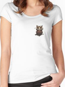 Owl coffee Women's Fitted Scoop T-Shirt