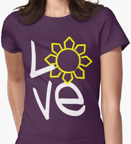LOVE Philippines Sun by AiReal Apparel Womens Fitted T-Shirt