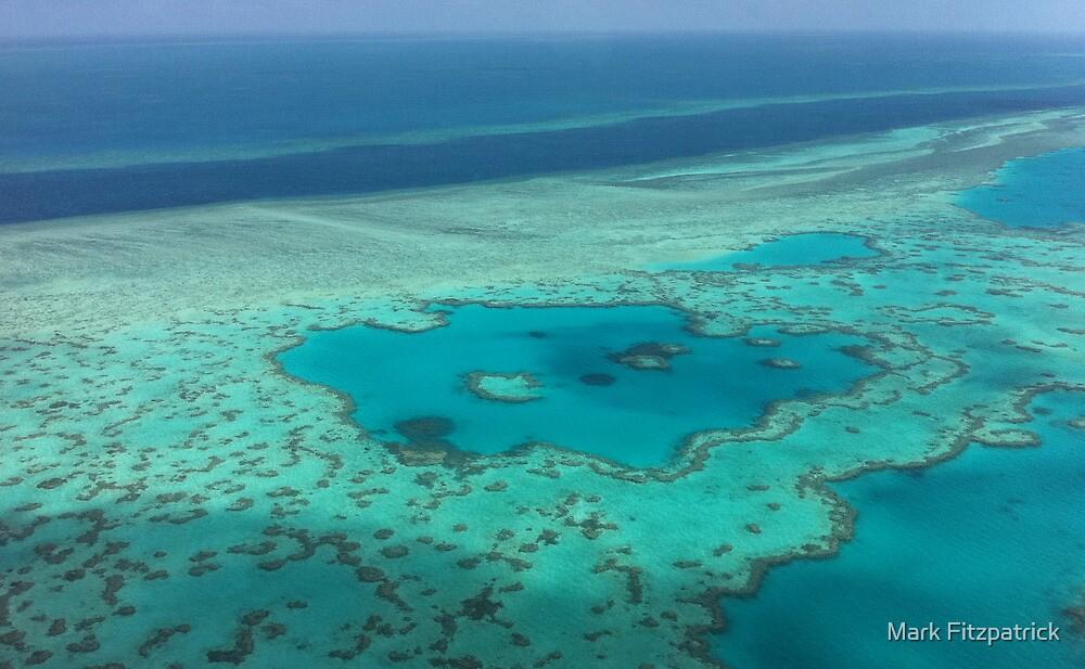 Birds eye view - Great Barrier Reef by Mark Fitzpatrick
