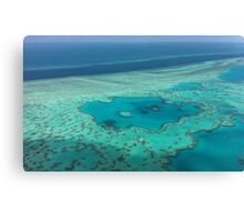 Birds eye view - Great Barrier Reef Canvas Print