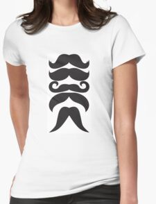 Moustache Overload Womens Fitted T-Shirt