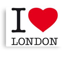 I ♥ LONDON Canvas Print