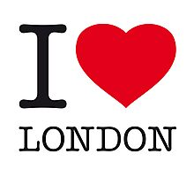I ♥ LONDON Photographic Print