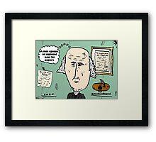 président MADISON chevelu webcomic Framed Print