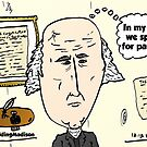 Balding President Madison caricature by Binary-Options