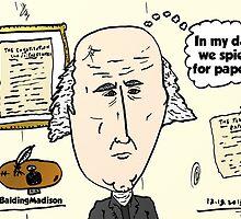 Balding President Madison caricature by Binary-Options