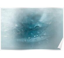 Frozen Blue Ice Poster