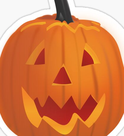 Spooky Jack o' Lantern Sticker