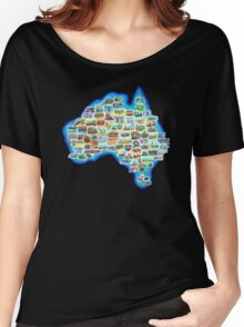Pictorial Australia T-Shirt Women's Relaxed Fit T-Shirt