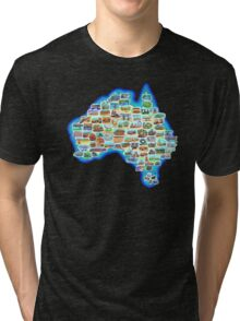 Pictorial Australia T-Shirt Tri-blend T-Shirt