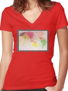 Our world - Our home Women's Fitted V-Neck T-Shirt