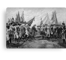 Surrender Of Cornwallis At Yorktown Canvas Print