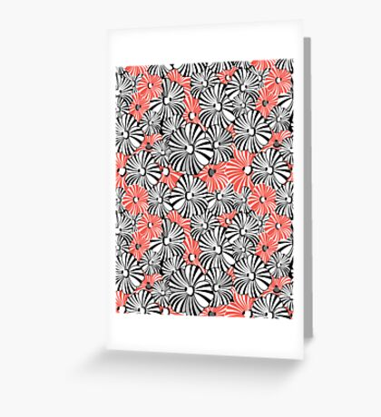 Graphic floral pattern Greeting Card
