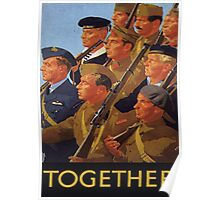 Allies March Together Poster