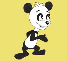 Cartoon of cute happy panda Kids Clothes