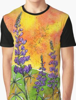 Lupin Flowers Graphic T-Shirt