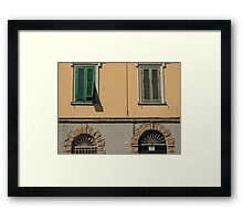 Feature facade with windows Framed Print