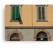 Feature facade with windows Canvas Print