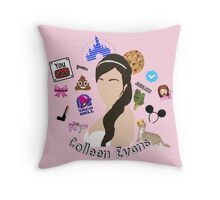 Colleen Ballinger Evans Collage Throw Pillow