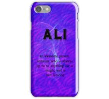 ali iPhone Case/Skin