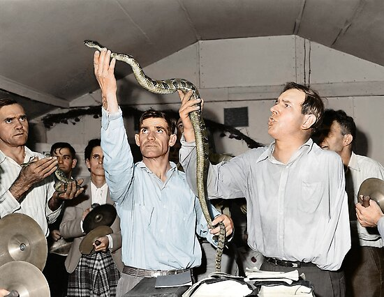 Snake handling - Harlan County, Kentucky. by PhotoRetrofit