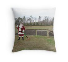 Santa hated the off-season, when it was Mrs. Claus' turn to shout 'Hoe hoe hoe!' Throw Pillow