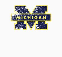 Distressed University of Michigan Logo Unisex T-Shirt