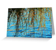Weeping Willow reflected onto the water Greeting Card
