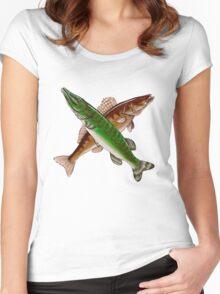 Crossfire pike & zander Women's Fitted Scoop T-Shirt