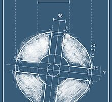 Team Fortress Logo Blueprint BLU by Defstar