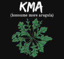 kma/(konsume more arugula) <white text>  Kids Tee
