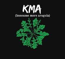 kma/(konsume more arugula) <white text>  Women's Fitted Scoop T-Shirt