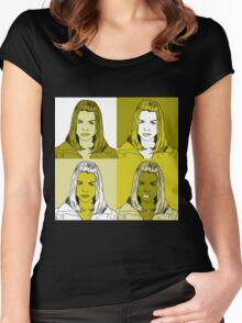 Rose Tyler in Warhol Monochrome Women's Fitted Scoop T-Shirt