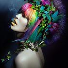 Rainbow hair smoking punk by RyoLove