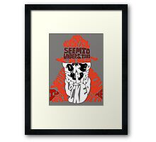 Rorschach typography Framed Print