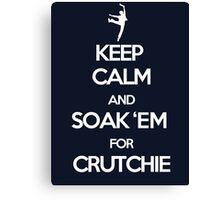 Soak 'Em for Crutchie!  Canvas Print
