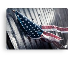 Tattered Patriot Metal Print