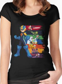 Megaman: Souls of a Hero V2 Women's Fitted Scoop T-Shirt